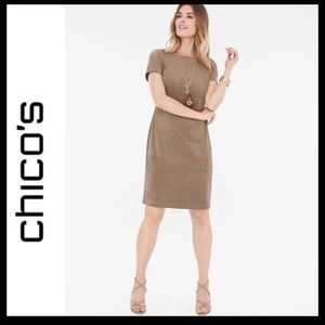 Host Pick 🎉 Chico's Faux-Suede Short Sleeve Dress